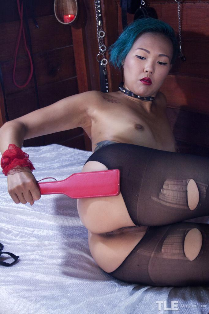 asian alt cutie with destroyed stockings #11