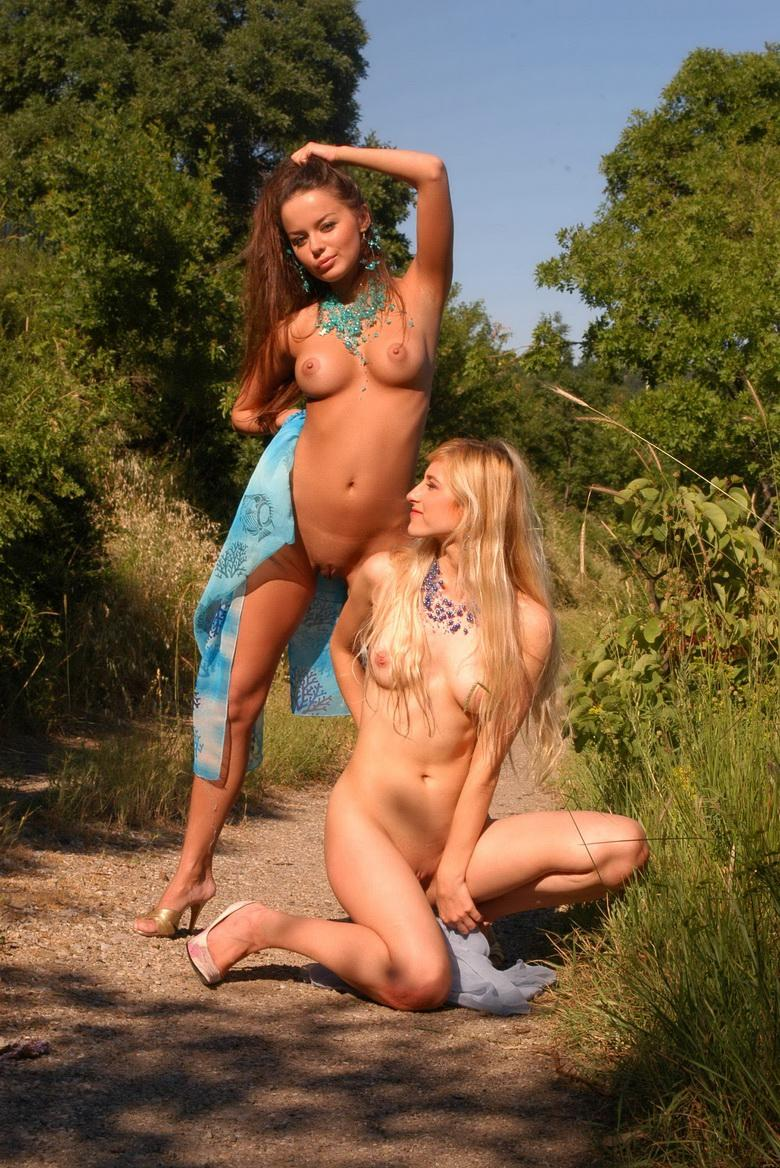 two very seductive young students enjoying first art nude modelling experience #6