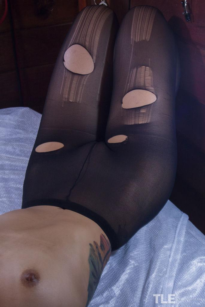 asian alt cutie with destroyed stockings #6