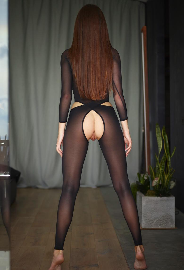 the sexiest legs in town – hegre beauty with crotchless nylons posing  #10