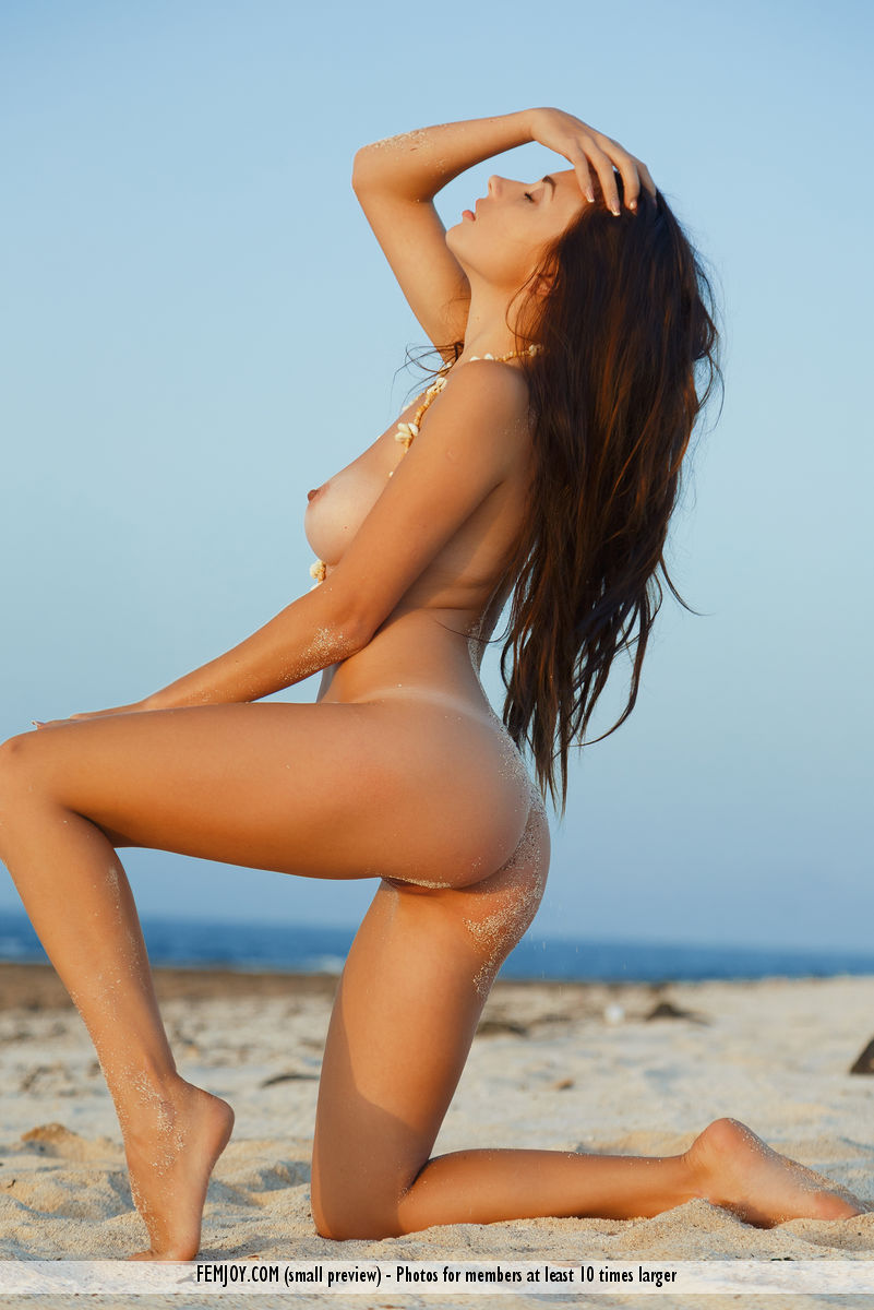 cosy beach babe in this new femjoy galleriy ( long dark hair) #1