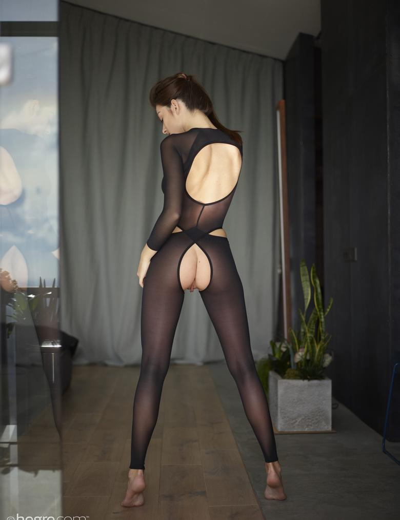 the sexiest legs in town – hegre beauty with crotchless nylons posing  #8