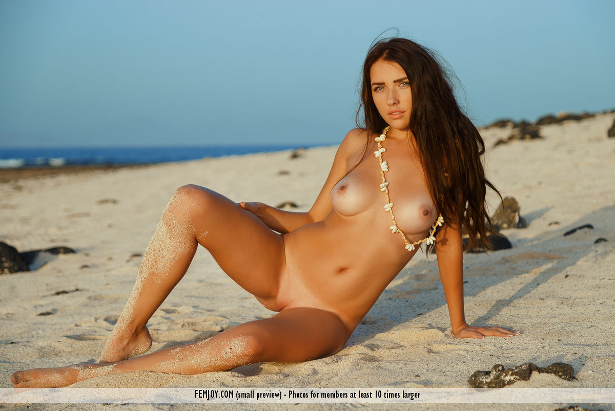 cosy beach babe in this new femjoy galleriy ( long dark hair) #11