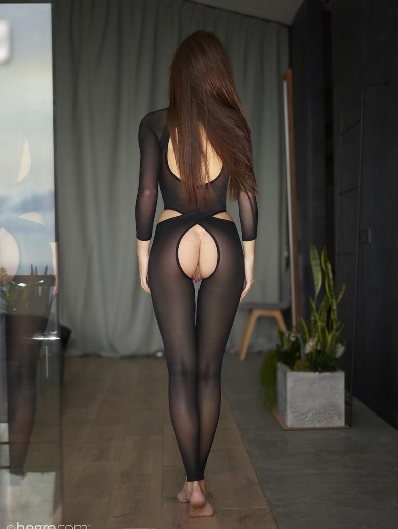 the sexiest legs in town – hegre beauty with crotchless nylons posing  #7