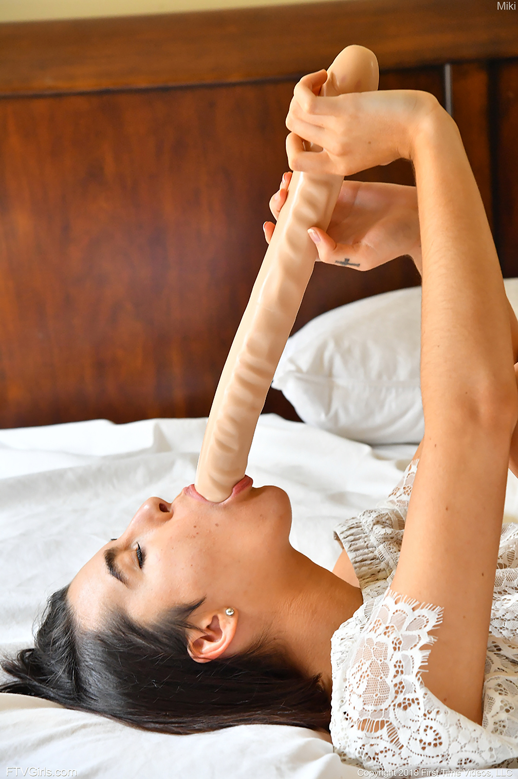 beautiful brunette needs big toys to get satisfied on her own #6