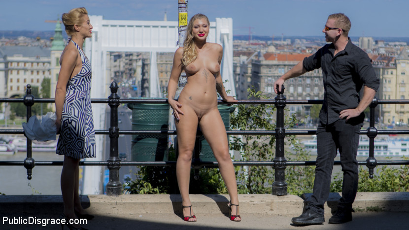 public exposure of cherry kiss in the streets of budapest #6