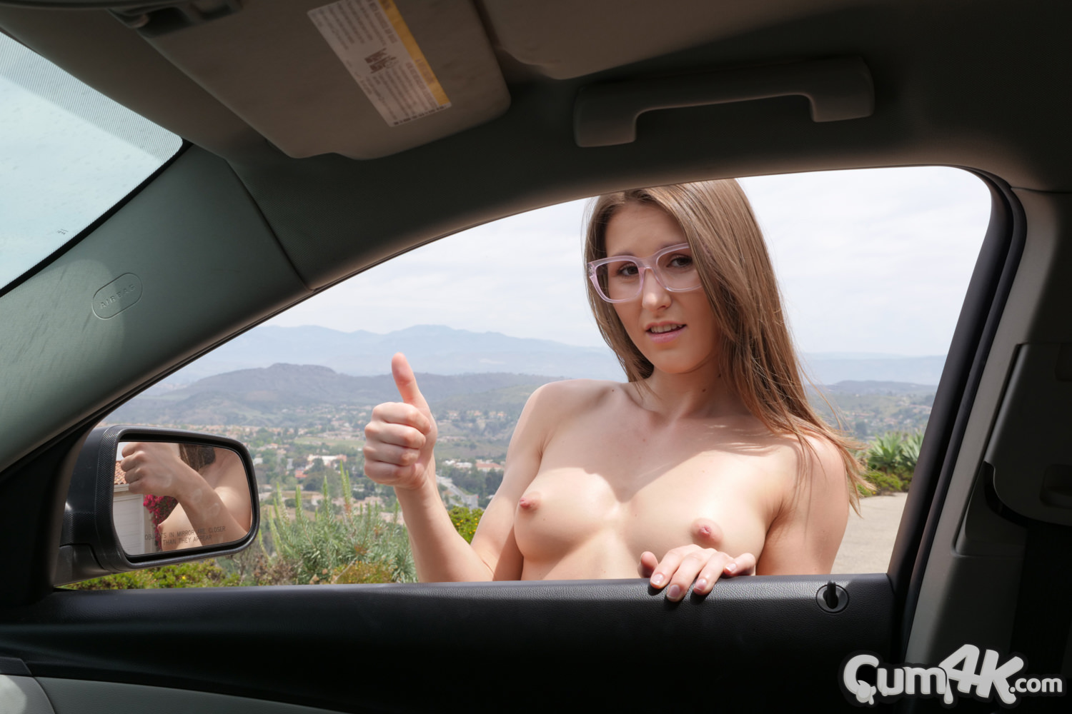 a plain load of white joy for geeky hitchiker paige owens from cum4k #2