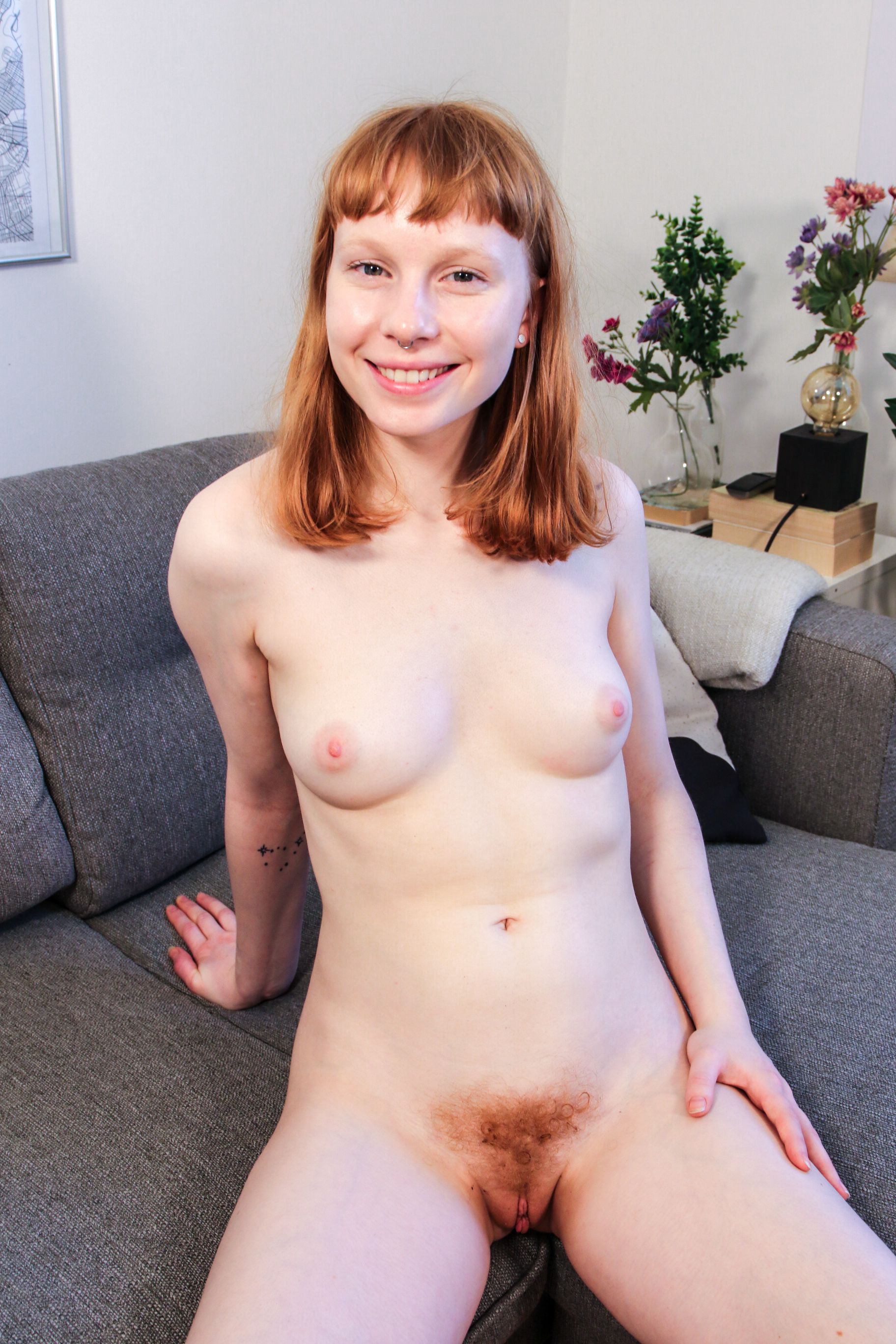 sweet redhead gir bonnie came a long way from l from australia flashing her unshaved triangle #5