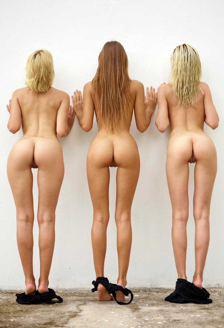 sexy maigre swimwear models going fully naked against the wall #7