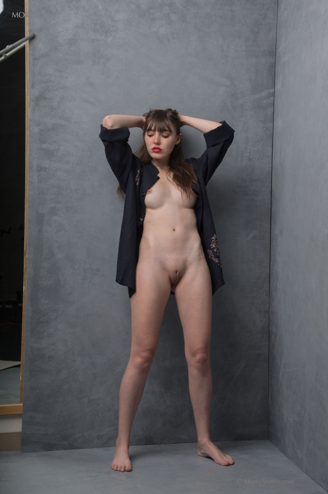 busty brunette college cutie from california doing naked modelling #6