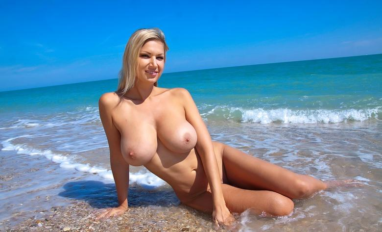 this busty sweetheart is going to punish her boyfriend for not coming to the beach today #11