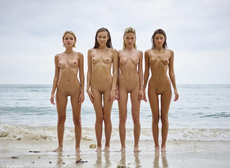 a group of skinny muses spending some nice days at the sea #5