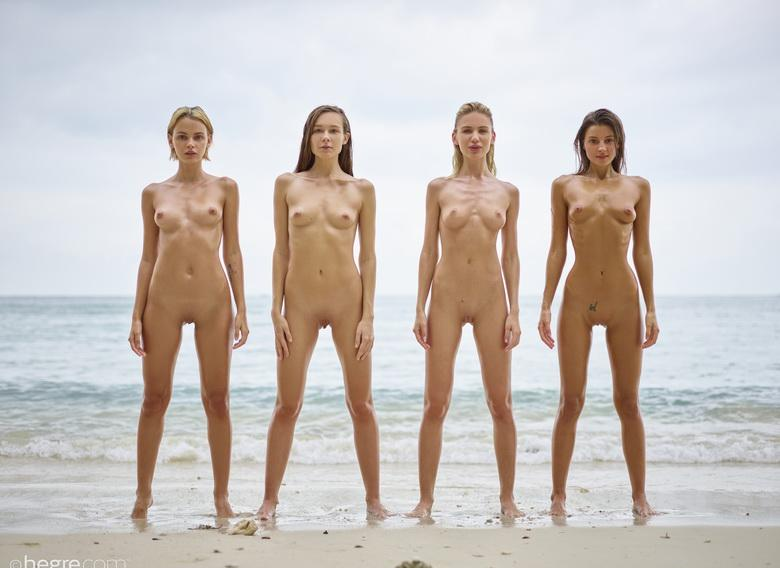 a group of skinny muses spending some nice days at the sea #12