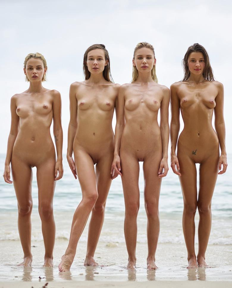 a group of skinny muses spending some nice days at the sea #6