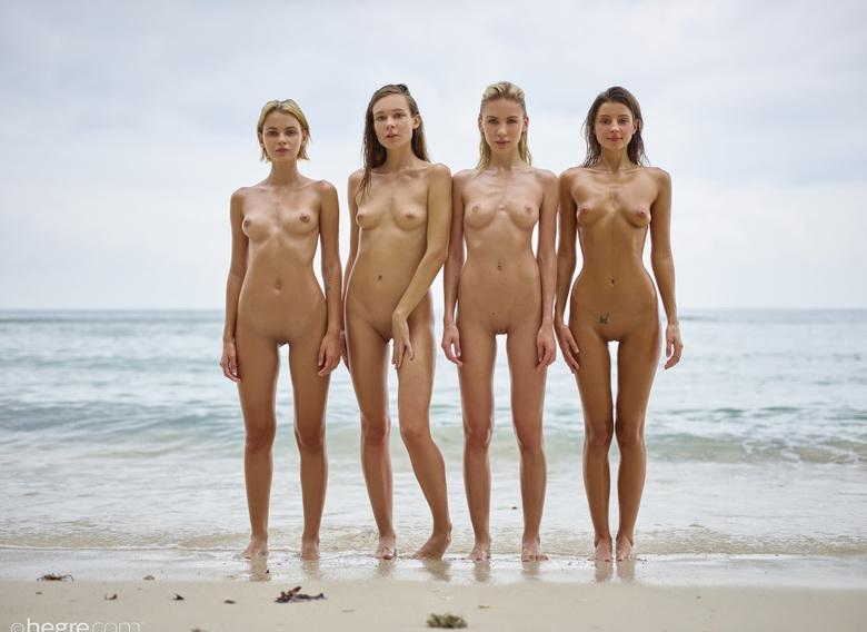 a group of skinny muses spending some nice days at the sea #1