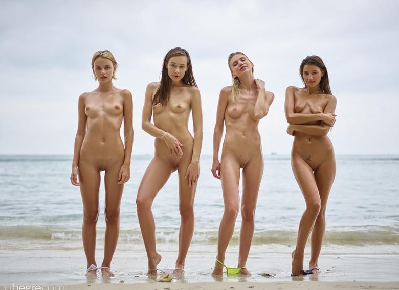 a group of skinny muses spending some nice days at the sea #10