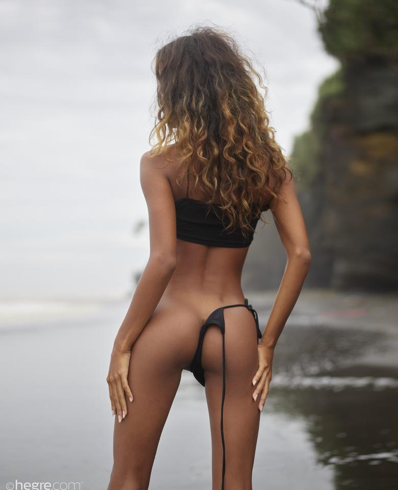 Putri at Black Beach Bali in 18 photos from Hegre-Art picture 5