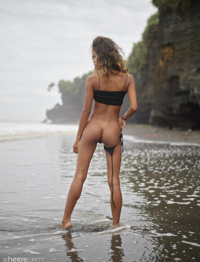 Putri at Black Beach Bali in 18 photos from Hegre-Art picture 7