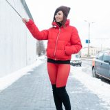cute jeny with skintight pants talking a walk outside in winter picture 5