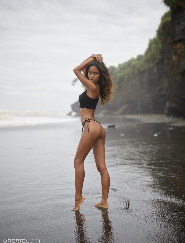 Putri at Black Beach Bali in 18 photos from Hegre-Art picture 3