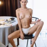 slender cutie is fiddling her little small twat with joy picture 11