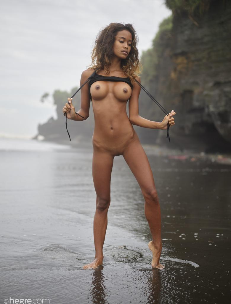 Putri at Black Beach Bali in 18 photos from Hegre-Art picture 9