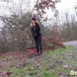 lucky piss moment for blonde cutie picture 3