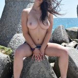 two beautiful bombs from toless carol (public beach) picture 10