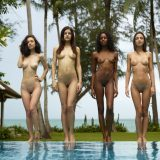 nice group shoot with a bunch of nude skinny models from hegre art picture 5
