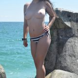 two beautiful bombs from toless carol (public beach) picture 5