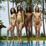 nice group shoot with a bunch of nude skinny models from hegre art picture 9