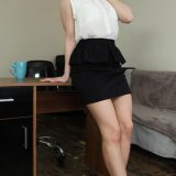 ticklish girl rachelle in black office suit picture 7