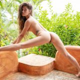 slim russian model with legs open exposing her precious cooch picture 15