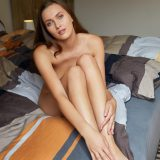 naked young woman squinting something picture 9