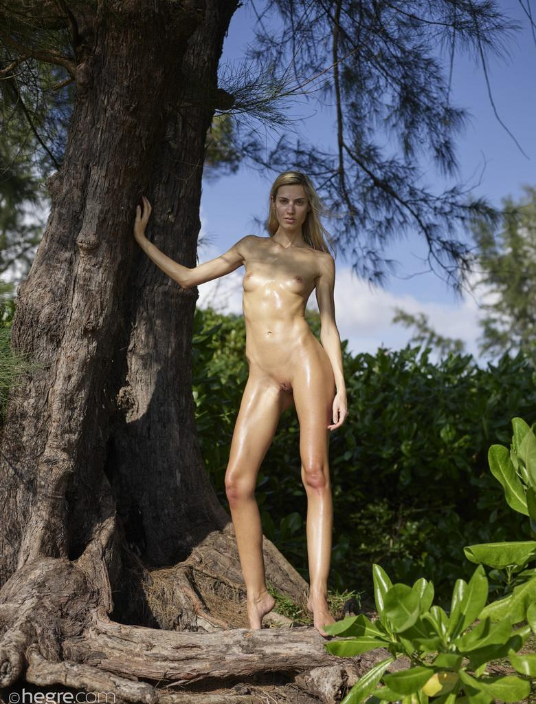 russian athletic girl nude in the forrest from hegre fantasies picture 2