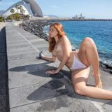 little nixen relaxing bare nacked at the luxury hotel pool picture 13