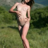 skinny natural girl posing naked outdoors and enjoying it picture 9