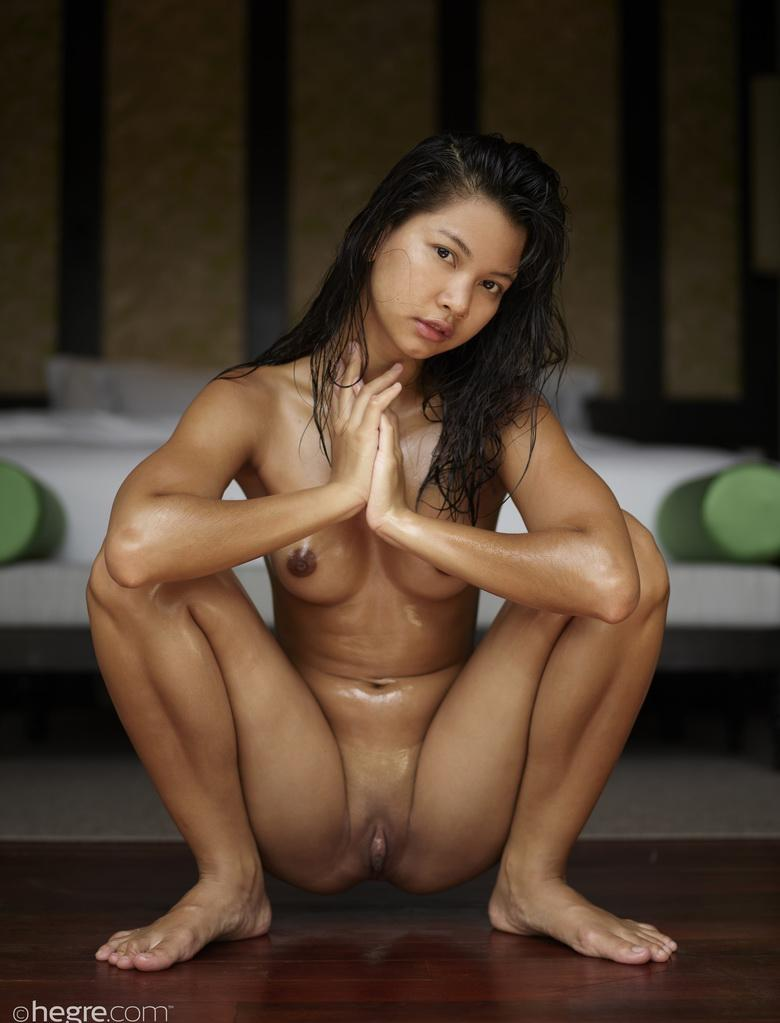 asian beauty pin crotching down for hegre-art picture 2