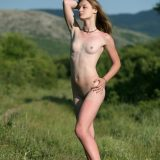 skinny natural girl posing naked outdoors and enjoying it picture 10