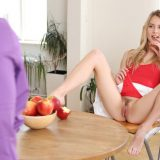 Alecia Fox upskirt blowjob with happy ending picture 9