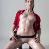 gamer girl cosplaying zomobie hunter in full nudity picture 13