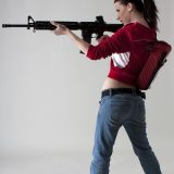 gamer girl cosplaying zomobie hunter in full nudity picture 3