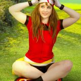 naked pokemon cosplay girl miette picture 5