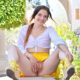 fresh girl olivia with a spontanious upskirt tease picture 11