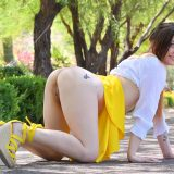 fresh girl olivia with a spontanious upskirt tease picture 9
